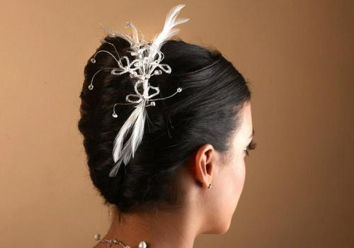 Headbands à plumes et perles ppur la mariée