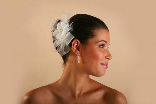Headbands à fleurs et rubans pour la mariée