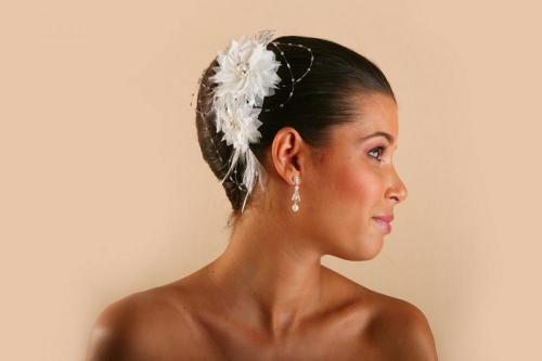 Headbands à fleurs et perles 2 pour la mariée
